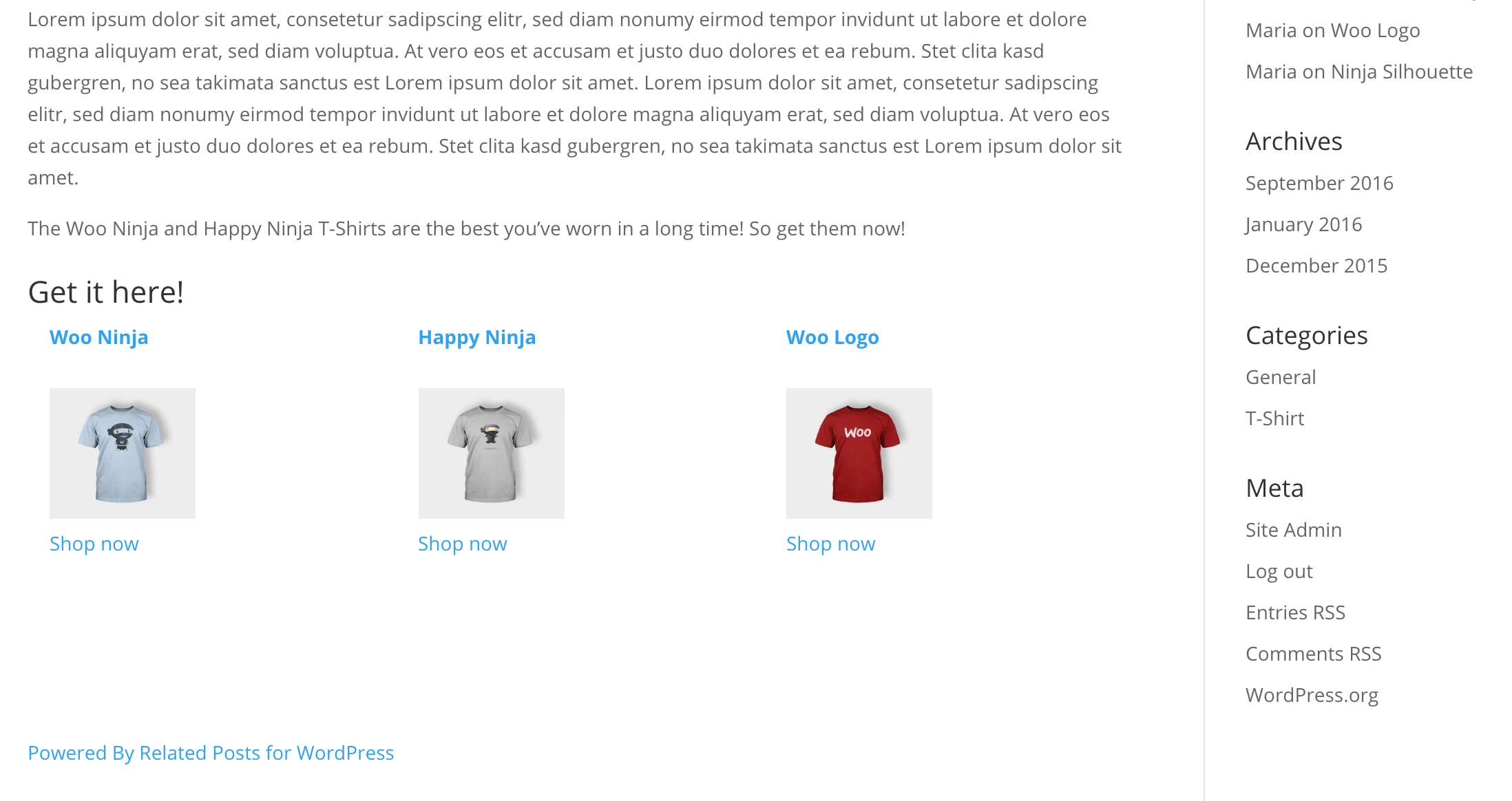Related Products for WooCommerce Premium